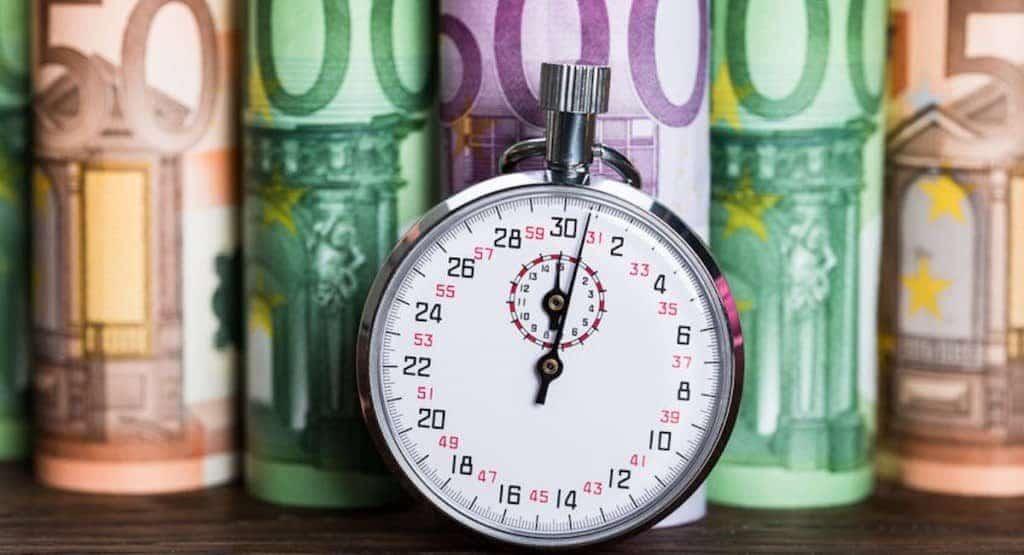 binnen 10 minuten geld op je rekening